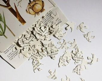 Confetti, Book Page Confetti, Table Scatters, Dove Confetti, Wedding Decoration, Package of 200