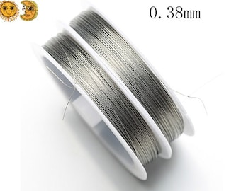 1 roll 100 meters tiger tail wire silver grey beading wire stringing beads findings cord wire wrap accessory steel wire 0.38mm thick