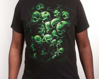 Green Skulls Size L