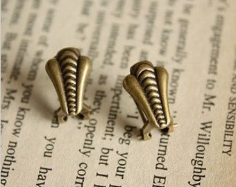 10 pcs raw Brass plating antique bronze  earring  wires  finding