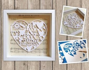Bespoke Papercut Wedding Picture