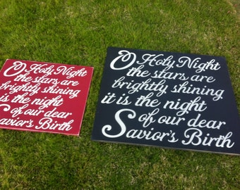 21x24 O Holy Night sign