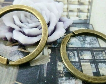 20PCS antique bronze 32mm key ring charm pendant- WC4384