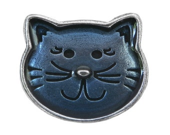 Danforth Kitty 1 inch ( 24 mm ) Pewter Button