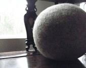"""BALL Cushion, Wool Felted  Ball 12"""" ~16"""", Ball Pillow,Ball Stool, Ball Arm Rest, Ball Pouf, Wool Ball Pouffee, Slow design -momoish made."""