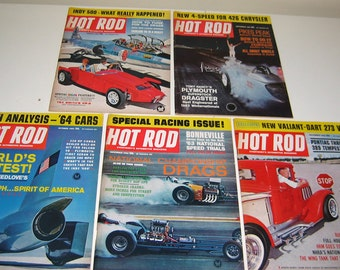 Five Hot Rod Magazines 1963