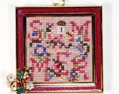 ONLY ONE -LIMITED- Ornament Summer Flower Framed Finished Cross Stitch Floral Pink Decoration