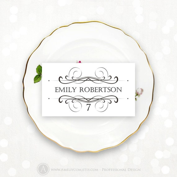 place card printable wedding escort cards tent cards name tags fold