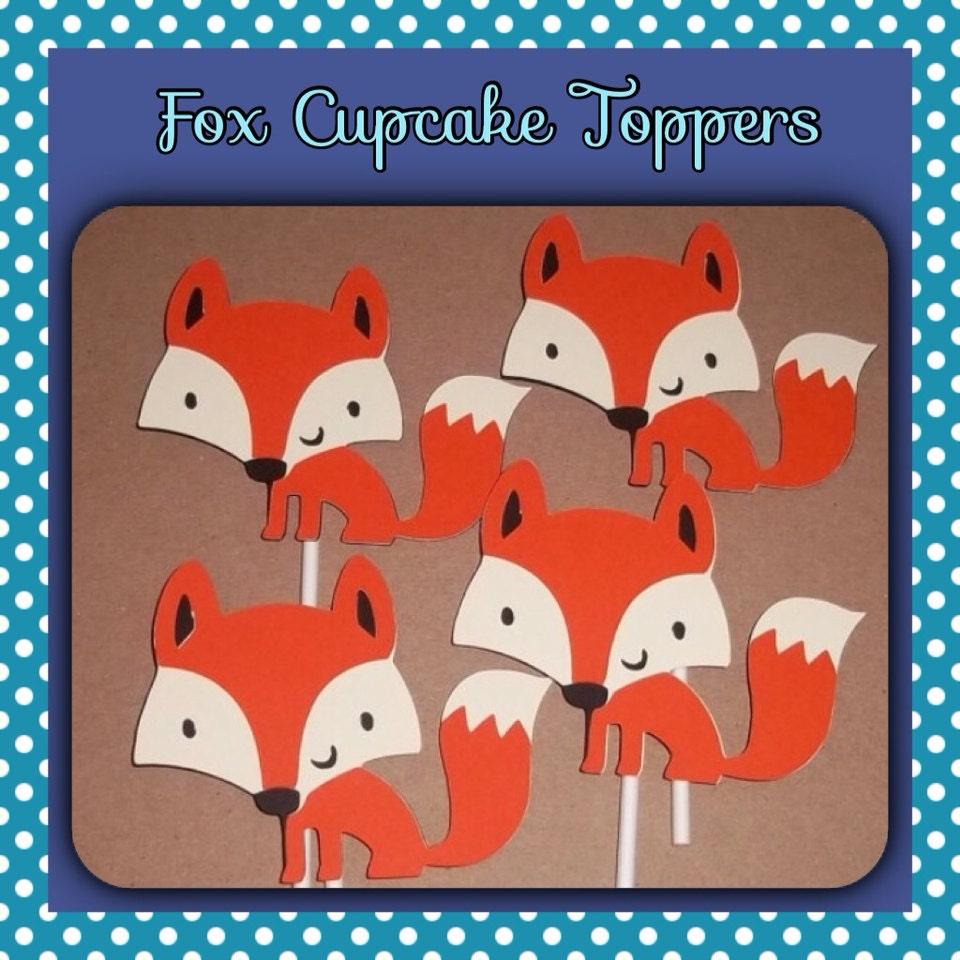 12 Fox Cupcake Toppers Fox Birthday First Birthday Fox