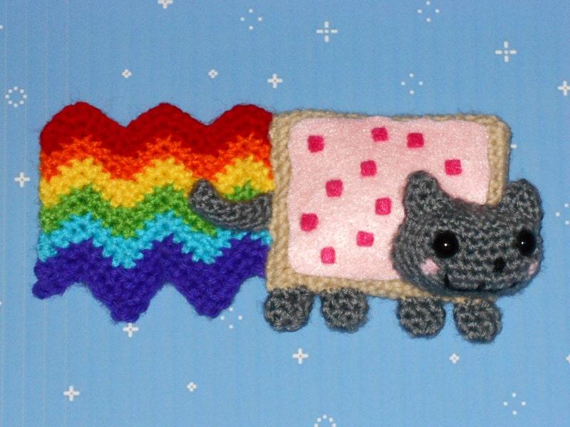 Nyan Cat Amigurumi Free Pattern : Nyan Cat Crochet Plush
