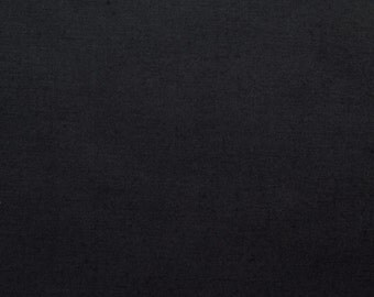 60 Inch Poly Cotton Broadcloth Black Fabric by the yard - 1 Yard