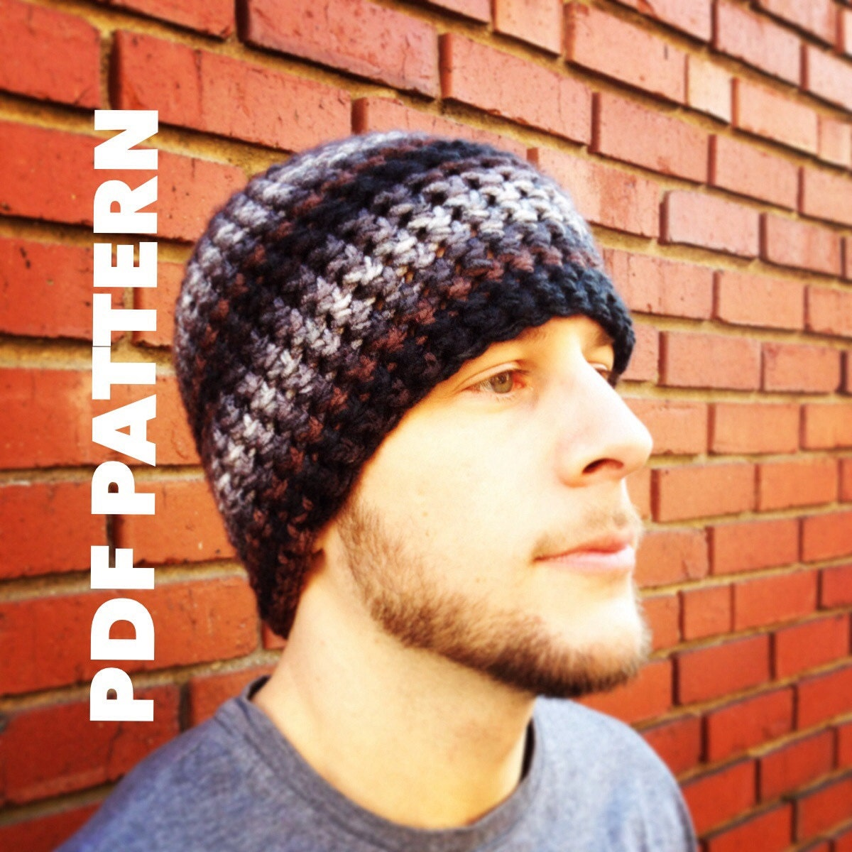One hour striped mens beanie crochet pattern bulky mens zoom bankloansurffo Choice Image