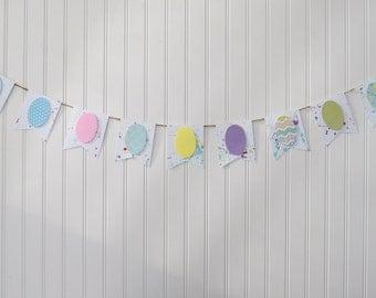 Paint Splatter Easter Egg Banner