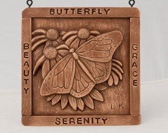 Butterfly, handmade from my orig woodcarving,