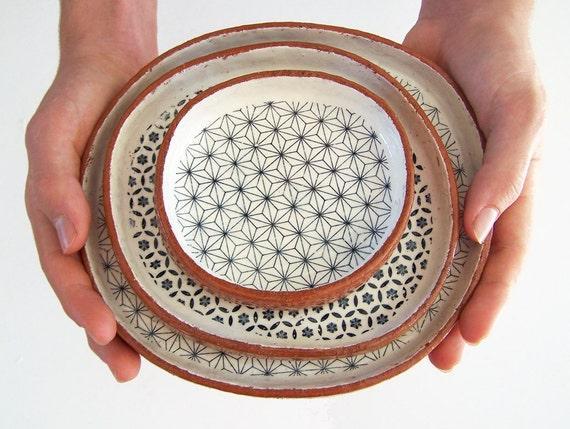 Susan Simonini ceramic tapas plates