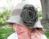 Crochet pattern - Alfiya Cloche, Crochet Summer Hat, crochet sun hat pattern, crochet flapper hat, crochet cloche hat, women crochet hat