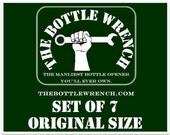 SET OF 7 - The Bottle Wrench Bottle Opener - All Original Size