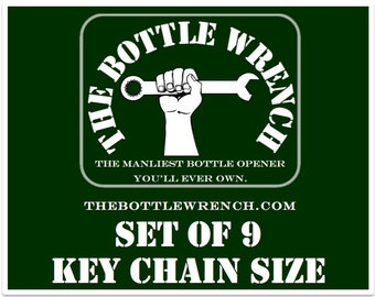 SET OF 9 Key Chain Sized - The Bottle Wrench Bottle Opener