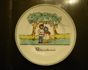 Antique Victoria Czecho-Slovakia Porcelain Plate, Babes in the Wood