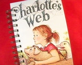 Charlotte's Web crafted into blank book diary journal