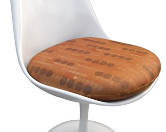 High Quality Replacement Cushion For Saarinen Or Burke Tulip Side Chair    Pattern Vinyl