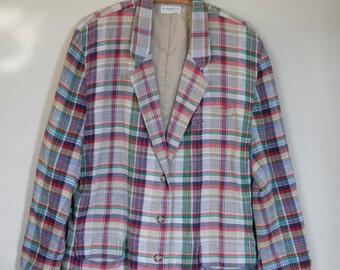vintage women's cotton blazer by elisabeth size large