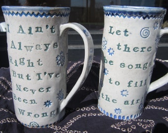 Grateful Dead Mug Large Shades Of Blues And Green