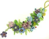 violet garden bracelet - RESERVED- custom order