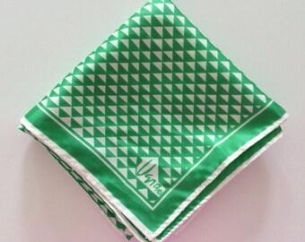 Vintage Vera Neumann Green Checked Scarf