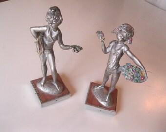 SALE!!  Pair Of Peltro Figurines / Pewter Figurines