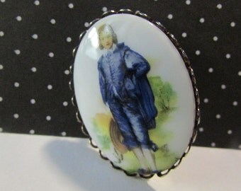 Vintage Gainsborough Blue boy pin brooch