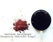 6 Raspberry Chocolate Fudge Lollipops // Tart Raspberries // Sweet Chocolate // Spring Wedding Favor // Fall Wedding Party