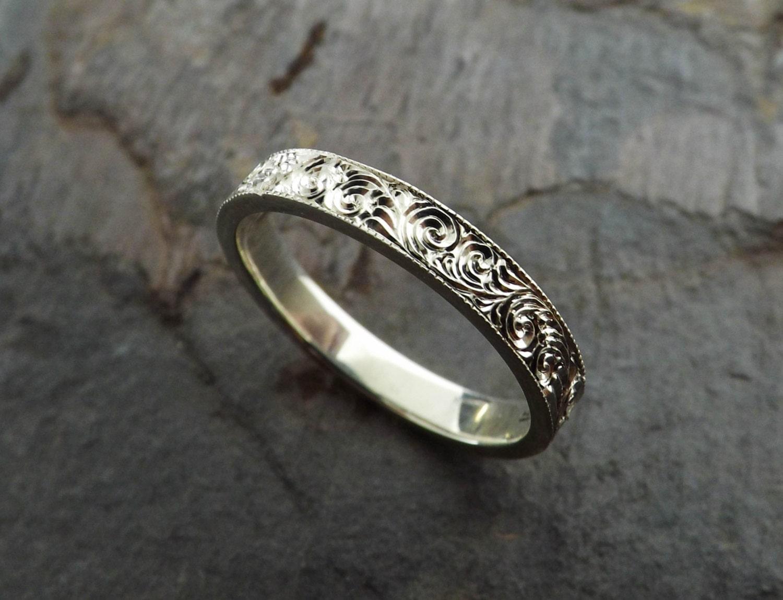 custom engraved sterling silver ring
