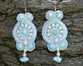 Larimar Soutache Earrings
