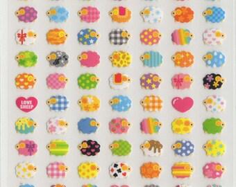 Kawaii Japan Sticker Sheet Assort: Animal Love Series  Mini Sheep Point Stickers READY TO SHEEP!