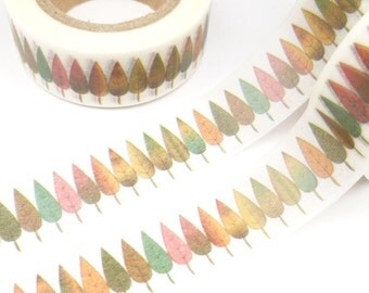 Colorful, Uniform Trees or Leaves Washi Tape - R670