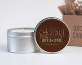 Chestnut & Brown Sugar scented soy wax Wicked Candle