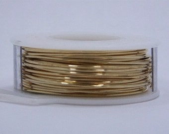 "18 GA (.040"")  Round Brass Wire 1/4lb Coil"