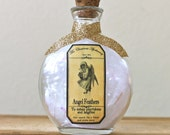 Christmas Angel Feathers Decorative Winter  Holiday Apothecary Bottle