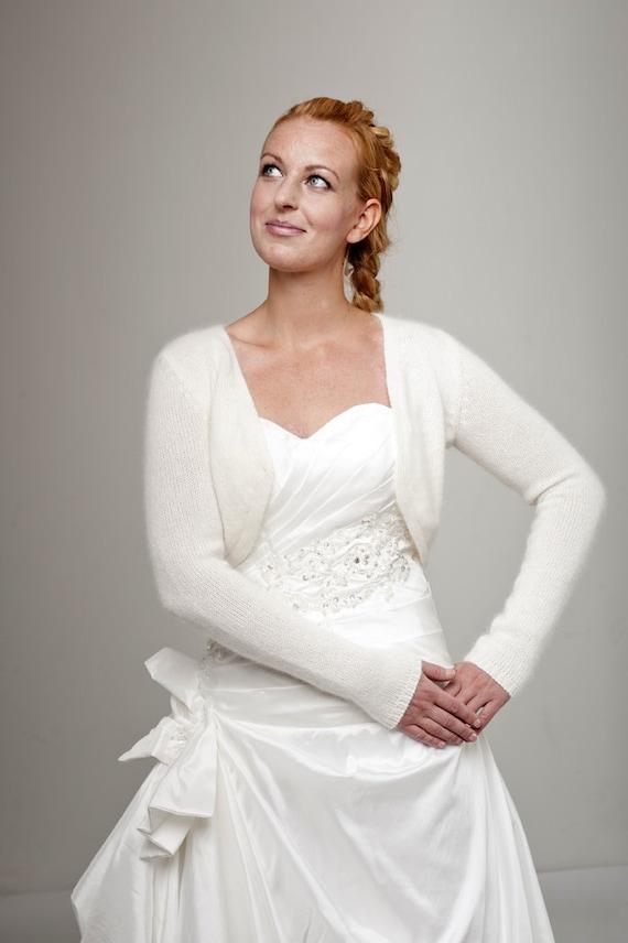gilet bolro de mariage avec ruban tricot de la laine douce parfaite pour votre robe de - Etole Cachemire Mariage
