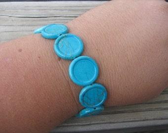 JEWELRY SALE- Turquoise Blue Beaded Bracelet