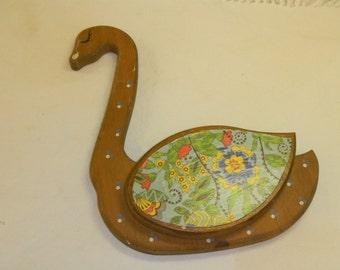 Vintage wood swan up cycled