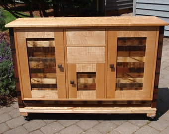 Maple and reclaimed wood Cabinet
