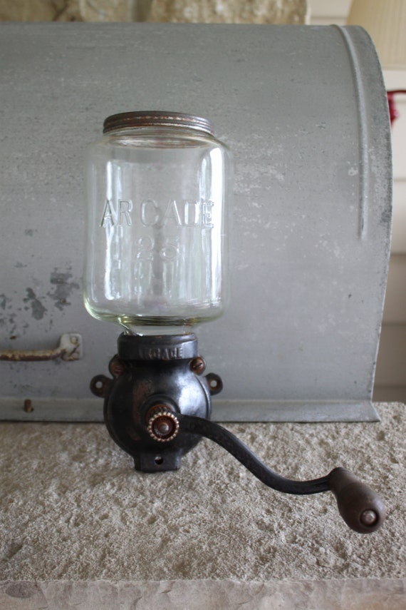 Wall Mounted Grinder ~ Antique arcade wall mount coffee grinder