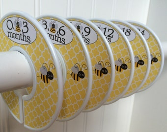 6 Baby Closet Dividers Girl Bees Clothes Dividers Closet Organizers Baby Shower Gift Girl Baby Nursery