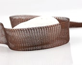 Brown, Titanium Tubular Mesh Ribbon, Titanium Mesh Cord, 1 mt. - Cord / Ribbon Supplies // CRD-0011