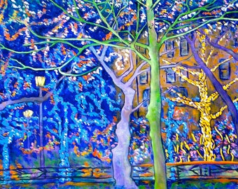 Holiday Lights on the Square - Giclee Print