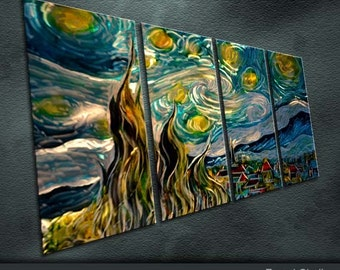 """Modern Original Metal Wall Art Abstract Special Painting Sculpture Indoor Outdoor Decor """" Colorful Days """" by Ning"""
