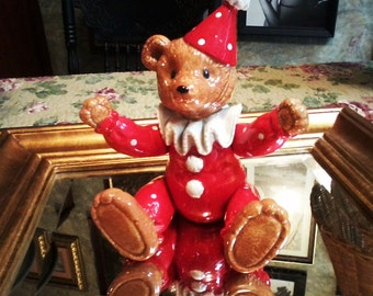 Articulated Musical Bear Clown