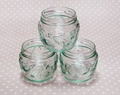 Set of 3 Glass Storage Jars with Seaside Pattern - Mixed Media Art Project